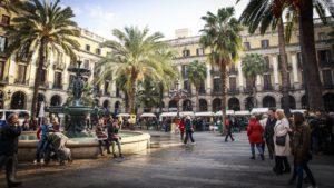 A Barcelona square.